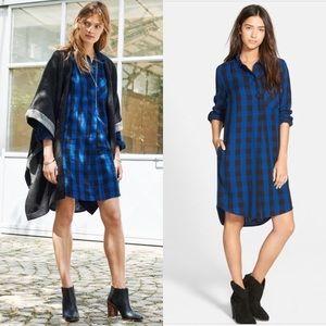 Madewell Checked Flannel Latitude Shirt Dress